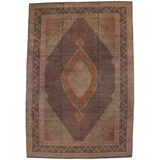 """Pasargad Ny Persian Tabriz Fish Silk & Wool Hand-Knotted Rug - 13'2"""" X 19'6"""" For Sale"""