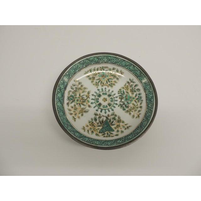 Vintage Japanese Green Decorative Ceramic Plate - Image 2 of 5