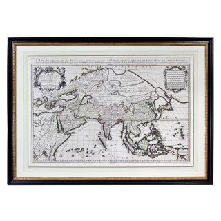 Framed Map of Asia by Hubert Jaillot For Sale