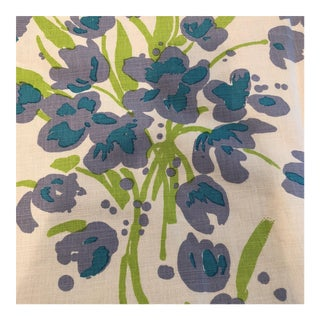 Quadrille Designer Floral Purple & Green Fabric