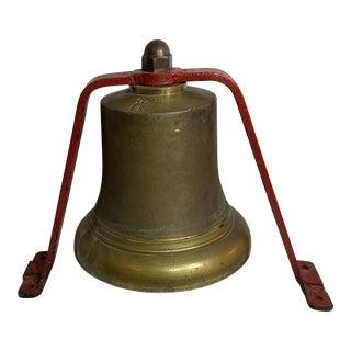 Antique British Quarter Desk Fire Bell For Sale