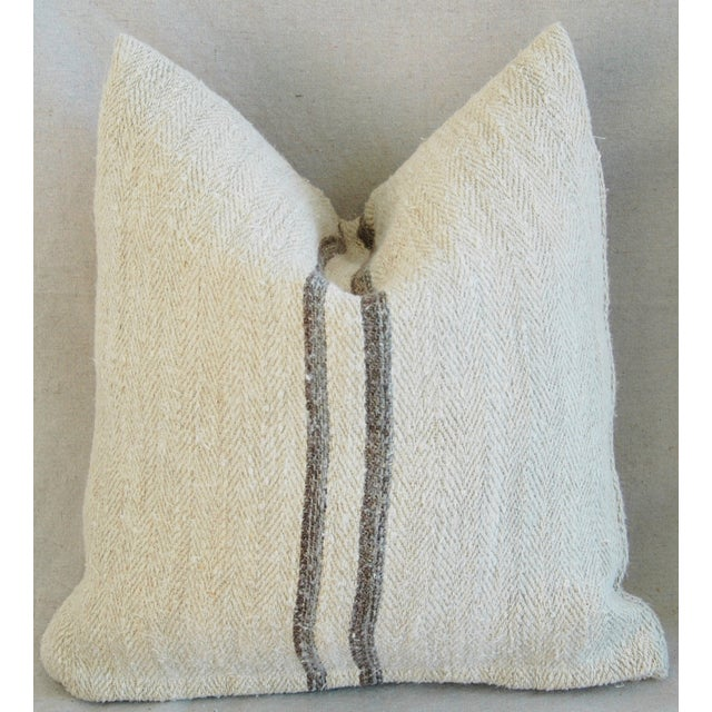 French Grain Sack Pillows - A Pair - Image 11 of 11