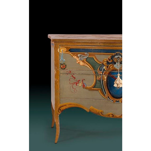 Italian Leda Painted Commode For Sale - Image 3 of 4