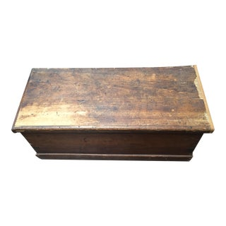 Vintage Seafaring Mahogany Storage Chest
