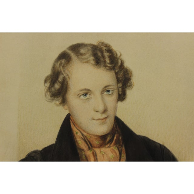 Elegant 19th-century delicate watercolour of a most stylish young gentleman!