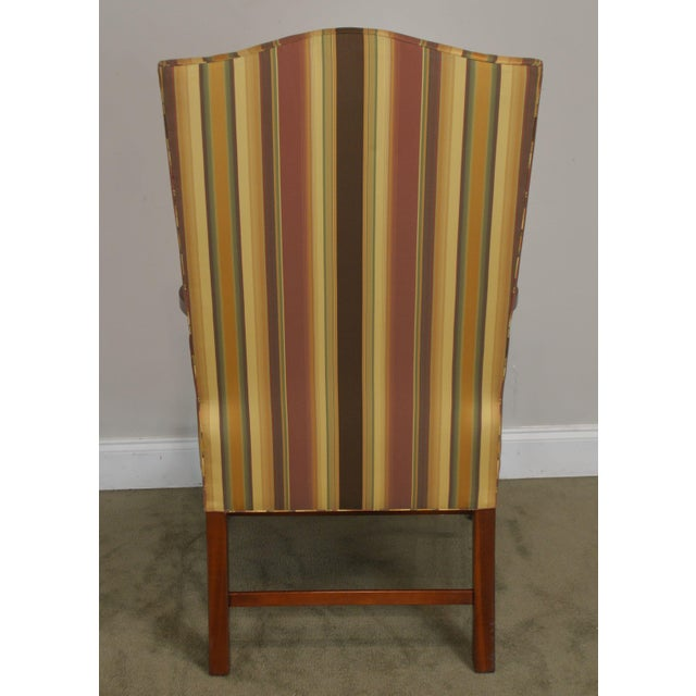 Early 21st Century Stickley Colonial Williamsburg Collection Mahogany Martha Washington Lolling Arm Chair For Sale - Image 5 of 13