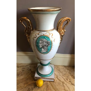 Substantial Zaccagnini Neoclassical Swan Handled Urn Preview