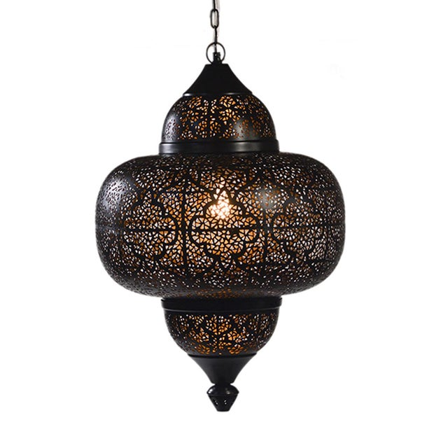 Kasbah Metal Lantern For Sale - Image 4 of 4