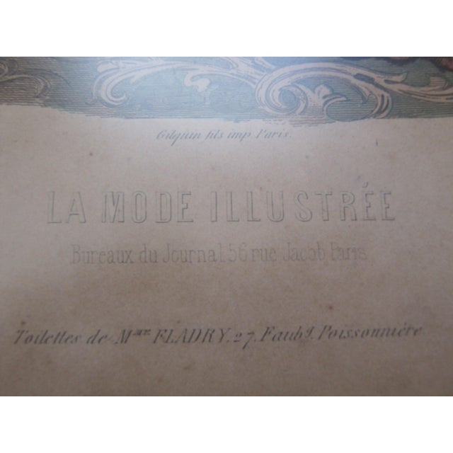 Antique French Fashion Prints - A Pair - Image 8 of 8