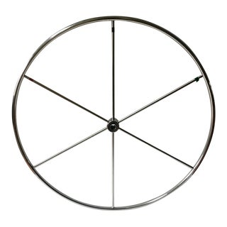 Nautical Steel Sailboat Wheel For Sale