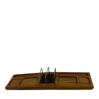 Mid Century Modern Walnut Desk Organizer For Sale