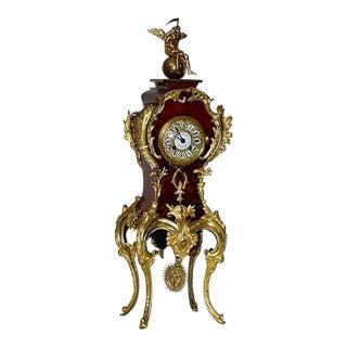 19th Century Antique Tortoise Shell Salon Clock For Sale