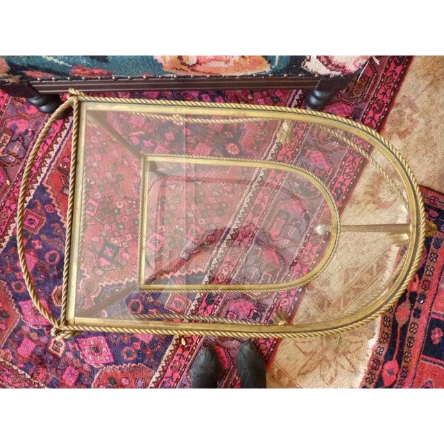 Mid Century Regency Italian Tassel Gilt Bar Cart - Image 10 of 10