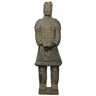 Chinese Terracotta Soldier Standing Statue For Sale