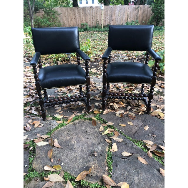 Mahogany Barley Twist Armchairs - a Pair For Sale - Image 12 of 12