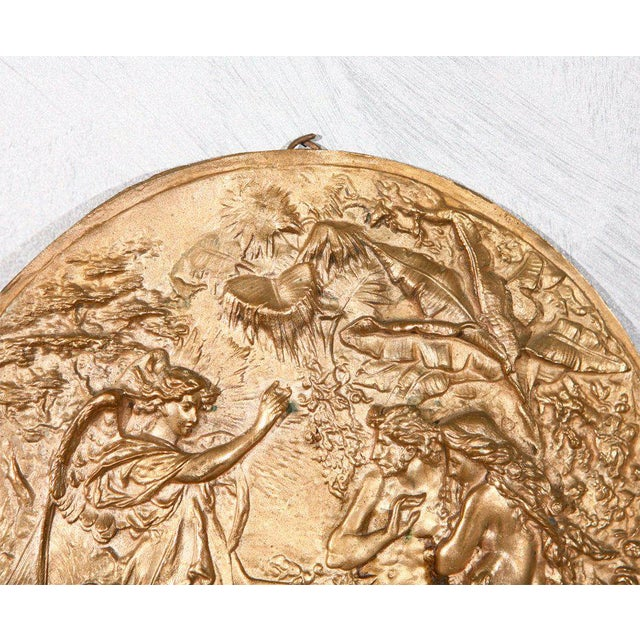 Bronze Bronze Plaque with Adam & Eve For Sale - Image 7 of 7