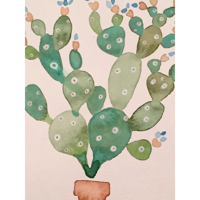 Original Cactus Watercolor - Image 2 of 2