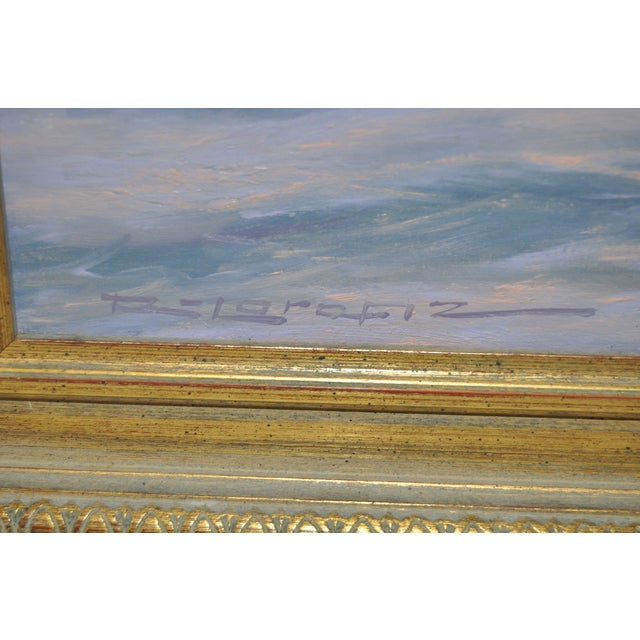 """Coastal Sunset"" Original Oil Painting by R. Lorenz - Image 3 of 8"