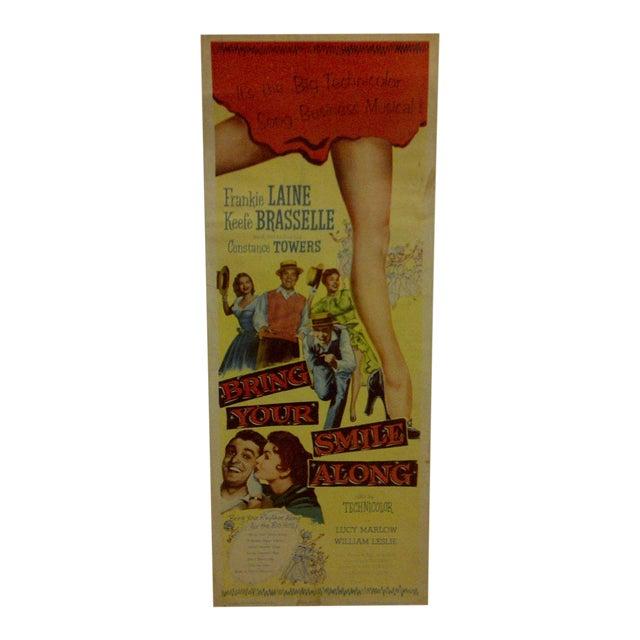 """Bring Your Smile Along"" Vintage Movie Poster For Sale"