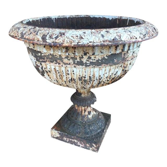 19th Century Neoclassical J.W. Fiske Cast Iron Urn For Sale