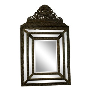 """Late 19th Century French """"Miroir a Parecloses"""" Bride's Mirror For Sale"""