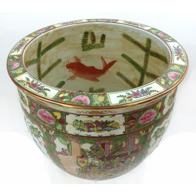 Vintage Asian Goldfish Bowl - Image 4 of 9
