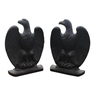 Cast Iron Eagle Bookends - a Pair For Sale