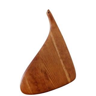 Carved Wood Serving Board by Dean Santner 1970s For Sale