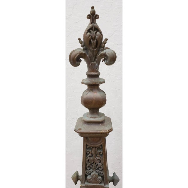 Metal Late 19th Century French Baroque Bronze Chenets / Andirons - a Pair For Sale - Image 7 of 12