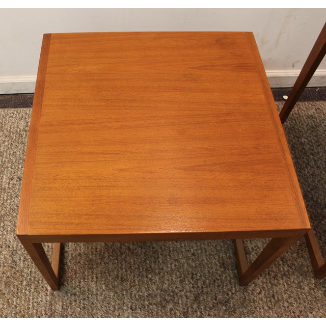 Danish Modern George Tanier Teak End Tables - Pair - Image 7 of 10