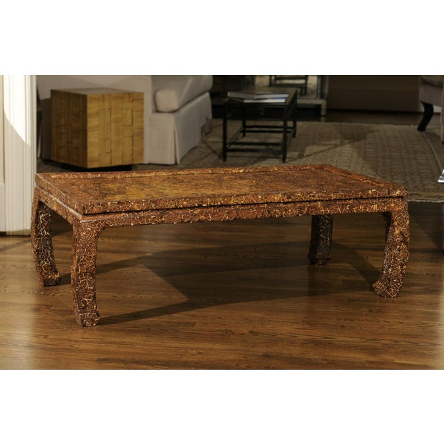 Mid-Century Modern Exquisite Mosaic Lacquered Coffee Table in the Style of Enrique Garcel For Sale - Image 3 of 11