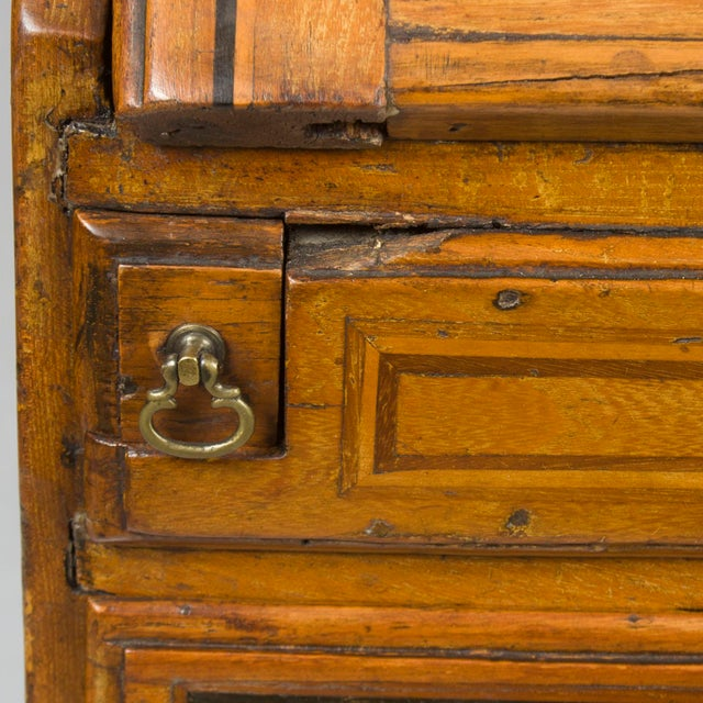 19th Century Victorian Period Light Oak Slant Front Bureau Secretary Desk For Sale In Atlanta - Image 6 of 13