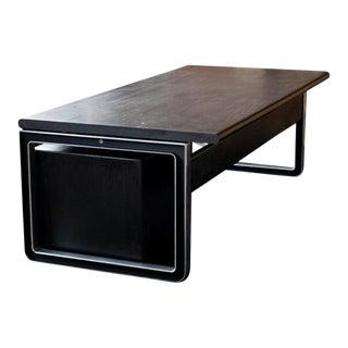Italian 1970s Tecno / Borsani Desk, With Rolling Under Cabinet and Credenza For Sale