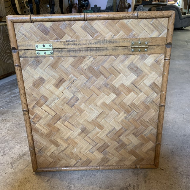 Vintage Rattan Chest Drink Table For Sale - Image 9 of 11
