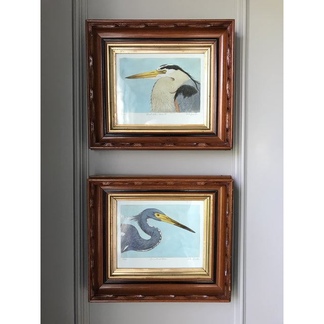Contemporary Limited Edition Hand Painted Framed Prints - A Pair For Sale - Image 10 of 10
