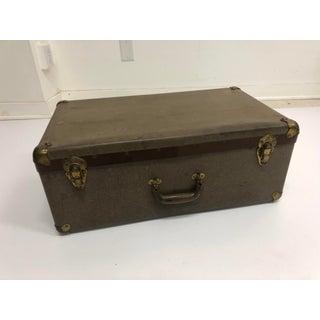 Vintage Industrial Fiber Salesman Suitcase by Wearever Aluminum Products Preview