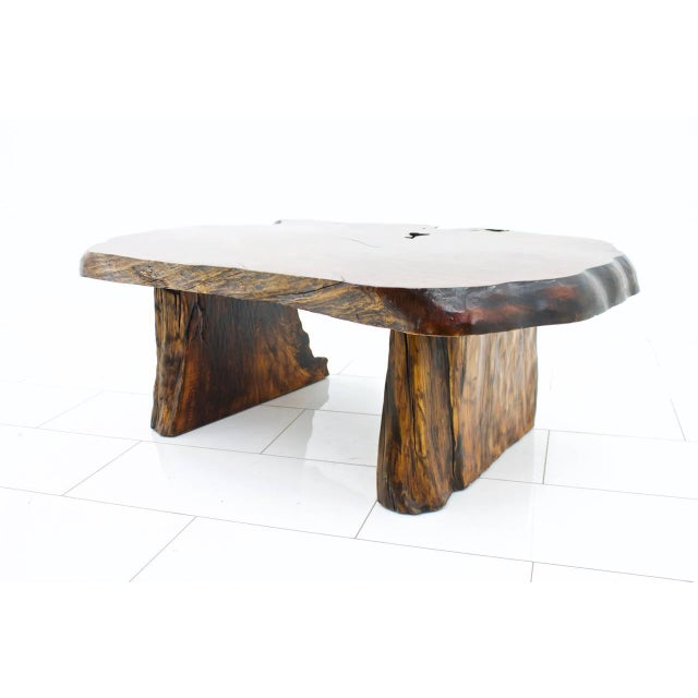 Beautiful root table, circa 1960s. Beautiful wood. Very good condition. Worldwide shipping.