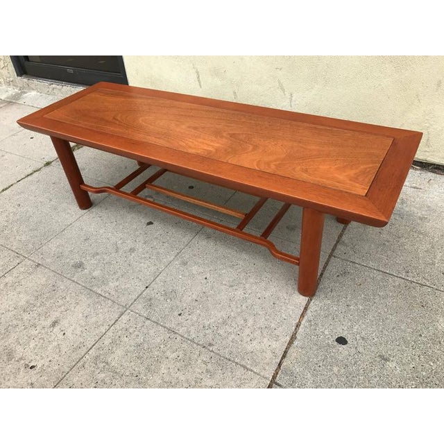 Mid-Century Modern Henredon Heritage Mahogany Coffee Table For Sale - Image 3 of 6