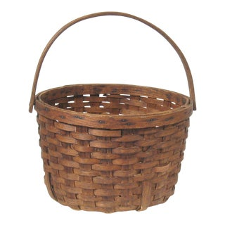 Antique Harvest Basket For Sale