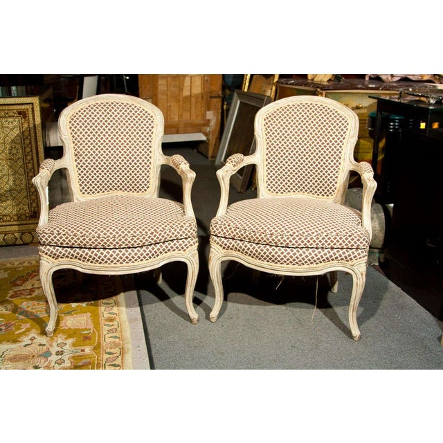 French Louis XIV Style Fauteuils - Pair - Image 2 of 8