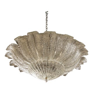 Barovier & Toso Large Textured White Glass Fixture For Sale