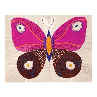 Paule Marrot, Butterfly Pink, Unframed Artwork For Sale