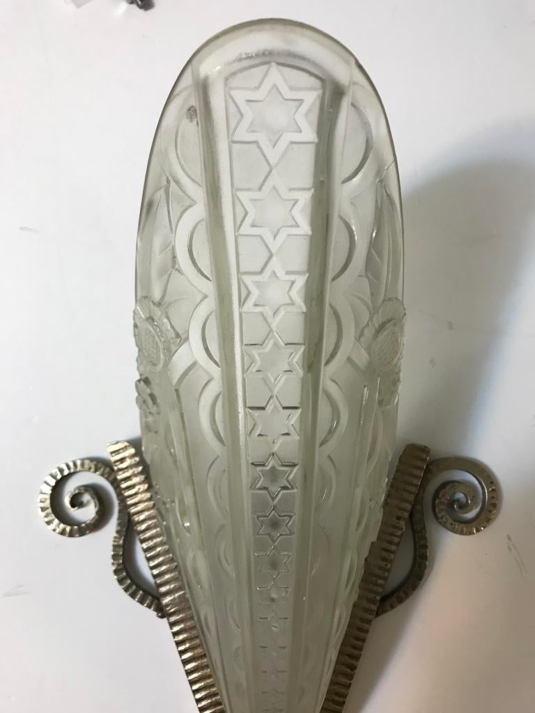 Pair Of French Art Deco Wall Sconces By Donna, Paris   Image 5 Of 10