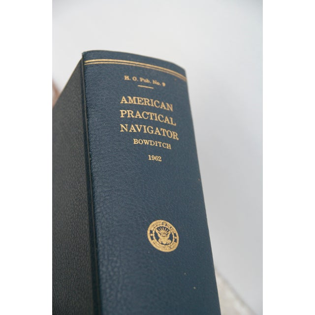 "Early American 1962 Vintage ""American Practical Navigator"" Book For Sale - Image 3 of 9"