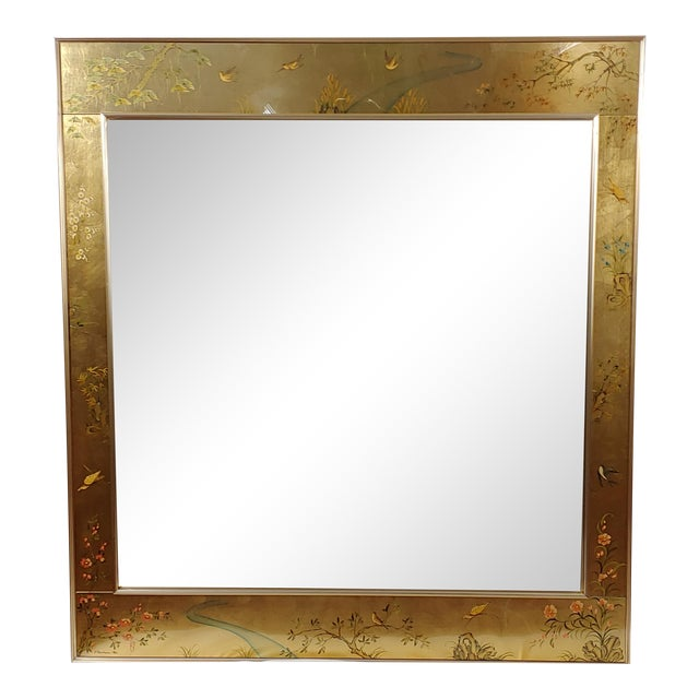 La Barge Reverse Painted Églomise Beveled Mirror For Sale
