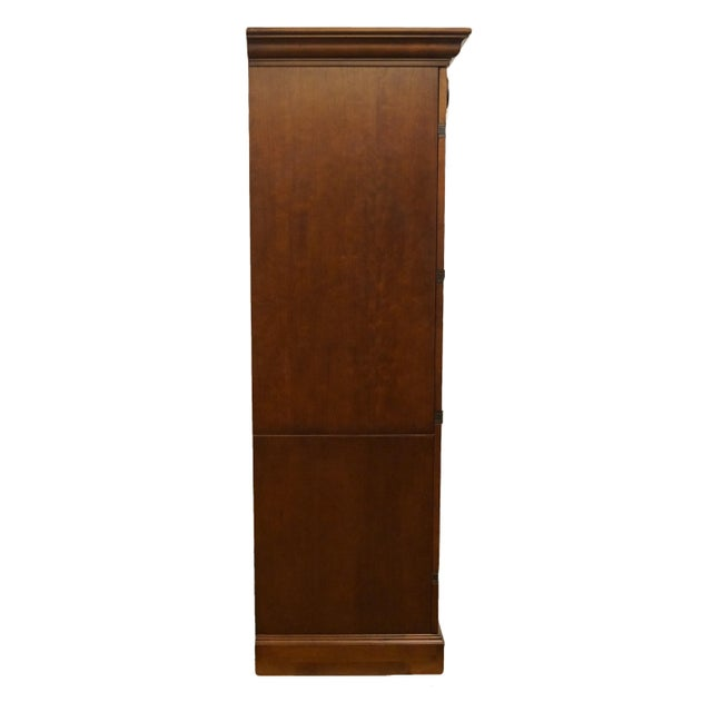 """20th Century Traditional Sligh Furniture Homeworks Home Office Collection 58"""" Computer/Media Armoire For Sale - Image 12 of 13"""