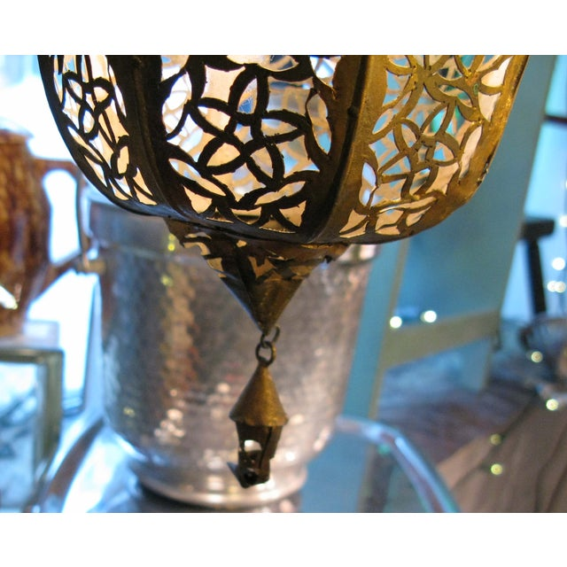 Antique Hanging Moroccan Lanterns - A Pair - Image 5 of 9