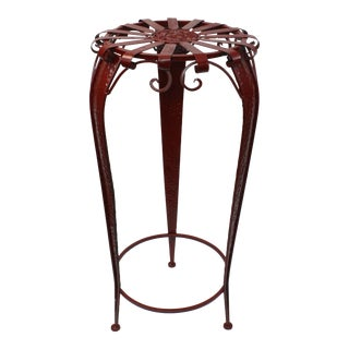 Red Metal Plant Stand