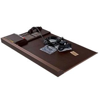 Nos Bynamics Leather Desk Director Phone System Six Hundred, 1985 For Sale