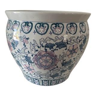 1970s Chinoiserie Porcelain Vase For Sale
